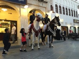 At Souq Waqif with Horses
